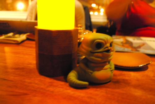 Jabba likes dining by candelight