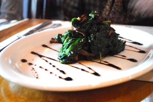 Sautéed Spinach & Shiitake Mushrooms