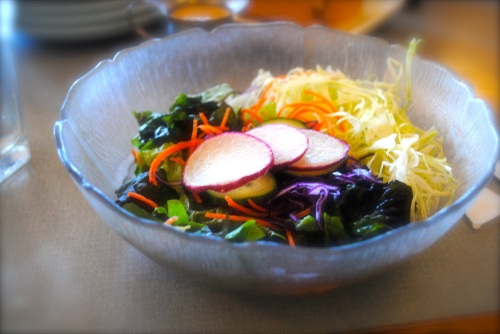 Salad with ginger vinaigrette