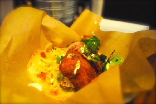 Jumbo fish taco, fried