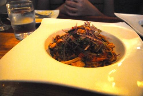 Arroz con Mariscos - Peruvian seafood paella, salsa criolla