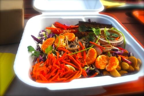 Cold sesame soba noodles with sesame-citrus dressing (vegan)