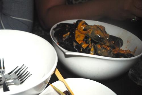 Beer steamed Carlsbad mussels