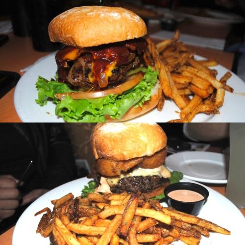 A sampling of burgers